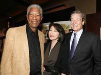 Morgan Freeman, Connie Chung and Maury Povich at the New York special screening of