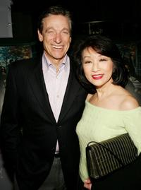 Maury Povich and his wife Connie Chung at the premiere of