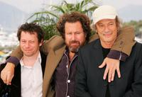 Mathieu Amalric, Julian Schnabel and Patrick Chesnais at the promotion of