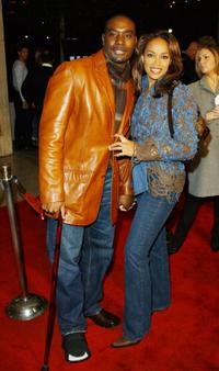 Morris Chestnut and Pam at the Los Angeles premiere of
