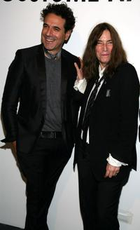 Ennio Capasa and Patti Smith at the Costume National Reception for