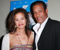 Linda Morris and Phil Morris at the premiere of