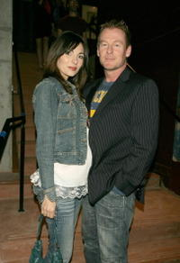 Silvia Colloca and Richard Roxburgh at the show at Company B's return to the reopened refurbished Belvoir Street Theatre.