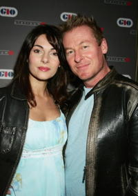 Silvia Colloca and Richard Roxburgh at the GIO insurance launch and preview screening of