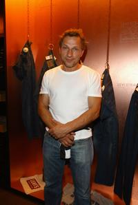 Richy Muller at the opening of Levi's flagship store.