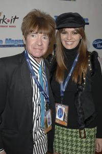 Rodney Bingenheimer and India Dupre at the American Idol Semi-Finalists party.