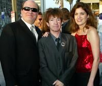 Rodney Bingenheimer and guest at the after party of the premiere of