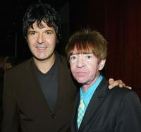 Clem Burke and Rodney Bingenheimer at the after party of