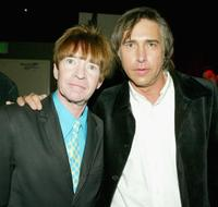 Rodney Bingenheimer and Chris Carter at the after party of