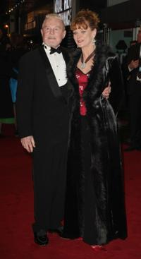 Derek Jacobi and Samantha Bond at the Cinema and Television Benevolent Fund Royal Film Performance 2008 and world premiere of