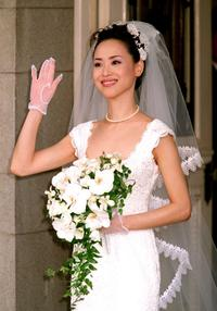 Seiko Matsuda at the wedding ceremony in Tokyo.