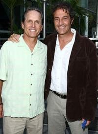 Gregory Harrison and Shaun Tomson at the premiere of