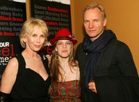 Anna Chlumsky, Trudie Styler and musician Sting at the