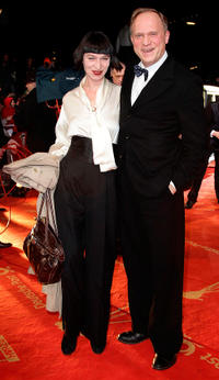 Katharina John and Ulrich Tukur at the 46th Golden Camera awards in Germany.