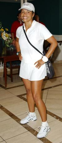 Rae Dawn Chong at the Merv Griffin/Beverly Hills Country Club Celebrity Tennis Classic.