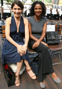 Lisa Edelstein and Robbi Chong at the Mercedes-Benz Fashion Week Spring 2008.