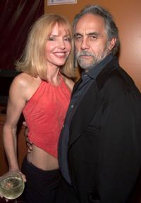 Tommy Chong and Shelby Chong at a party for the launch of animated series