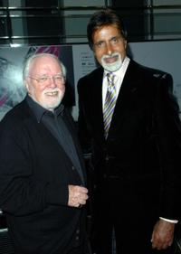 Lord Richard Attenborough and Amitabh Bachchan at the premiere of