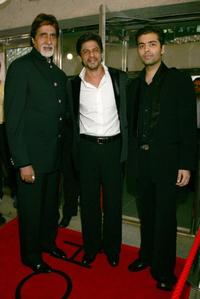 Amitabh Bachchan, Shahrukh Khan and Karan Johar at the Toronto International Film Festival premiere of