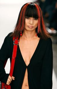 Bai Ling at the Yves Castaldi Spring 2008 fashion show during Mercedes Benz Fashion Week.