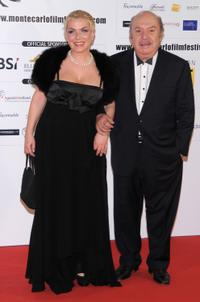 Rosanna Banfi and Lino Banfi at the 2009 Monte-Carlo Film Comedy Festival Cocktail Party.