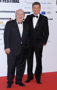 Lino Banfi and Ezio Greggio at the 2009 Monte-Carlo Film Comedy Festival Cocktail Party.