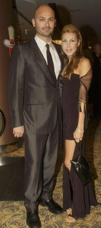 Steve Bastoni and his girlfriend at the Variety Heart Awards 2004.