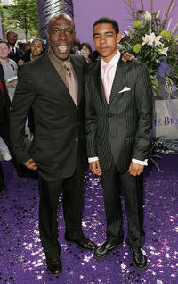 Gary Beadle and Guest at the British Soap Awards 2005 in England.