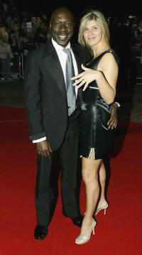 Gary Beadle and his Fiancee at the National Television Awards.