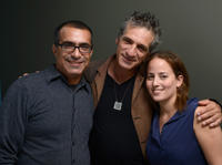 Director Yossi Madmony, Alon Aboutboul and Lee Shira at the portrait session of