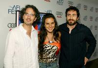 Director Juan Carlos Valdivia, Kate del Castillo and Demian Bichir at the North American premiere of