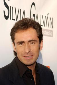 Demian Bichir at the grand opening of new Silvia Galvan hair studio.