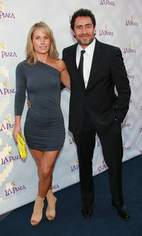 Stefanie Sherk and Demian Bichir at the Inaugural Gala of LA Plaza de Cultura y Artes in California.