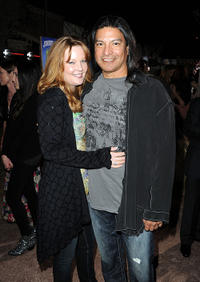 Gil Birmingham and Guest at the premiere of