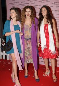 Eleonora Brigliadori and her daughters at the premiere of