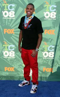 Christopher Brown at the 2008 Teen Choice Awards.