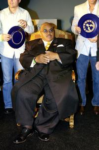 Solomon Burke at the Golden Dads Awards ceremony.