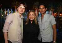 Dan Byrd, Dawn Ostroff and Adhir Kalyan at the CW Television Critics Association Press Tour party.