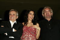 Director Marco Bellocchio, Donatella Finocchiaro and Gianni Cavina at the premiere of