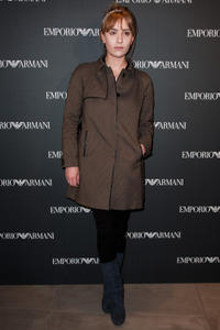 Lolita Chammah at the Emporio Armani store opening in Paris.