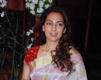 Juhi Chawla at the producer Ramesh Taurani's wedding Anniversary in Mumbai.