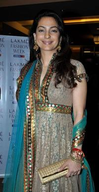 Juhi Chawla at the Lakme Fashion Week (LFW) Winter/Festive 2010.