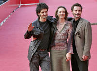 Director Olivier Masset, Anne Coesens and Sagamore Stevenin at the premiere of