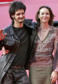 Director Olivier Masset and Anne Coesens at the premiere of