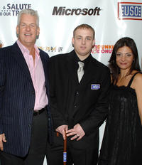 Lenny Clarke, Jeffrey Lynch and Callie Thorne at the