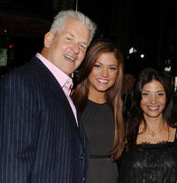 Lenny Clarke, Miss Teen USA Hilary Cruz and Callie Thorne at the