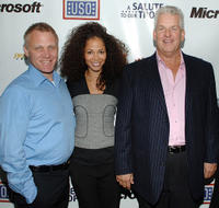 Terry Serpico, Sherri Saum and Lenny Clarke at the