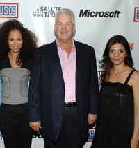 Sherri Saum, Lenny Clarke and Callie Thorne at the