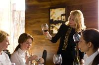 Jenny Wade as Leah, Lily Rabe as Bernadette and Patricia Clarkson as Paula in