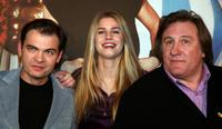 Clovis Cornillac, Vanessa Hessler and Gerard Depardieu at the photocall of